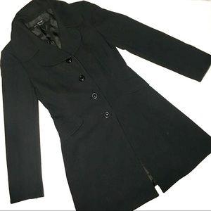 Zara Basic Black Coat Small